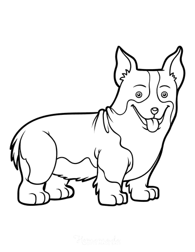 Dog Coloring Pages Welsh Corgi Outline