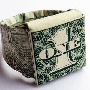 origami bill ring