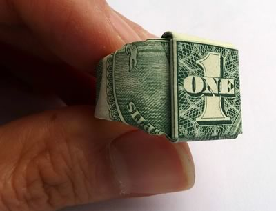 dollar bill ring finished