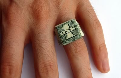 dollar bill ring finishedb