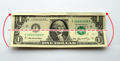 dollar bill ring step 2