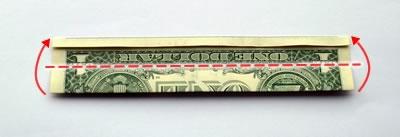 dollar bill ring step 3