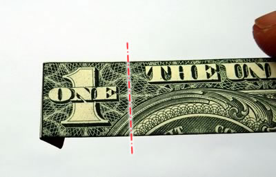 dollar bill ring step 4b