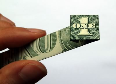 dollar bill ring step 4c