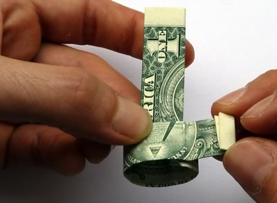 dollar bill ring step 8