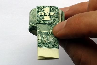 dollar bill ring step 8c