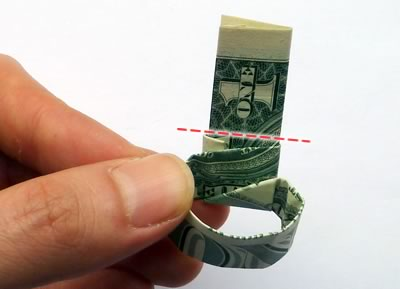 dollar bill ring step 9