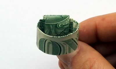 dollar bill ring step 9b