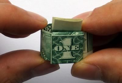 dollar bill ring step 10