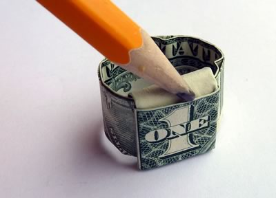 dollar bill ring step 10b