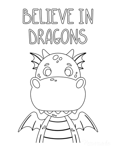 Dragon Coloring Pages Believe in Dragons