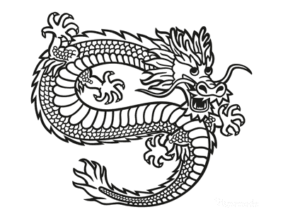 Dragon Coloring Pages Chinese Fire Dragon Scales