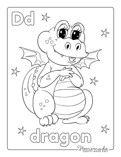 Dragon Coloring Pages Cute Dragon Preschoolers
