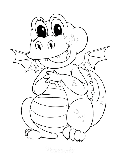 Dragon Coloring Pages Cute Dragon Preschoolers
