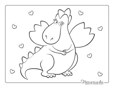 Dragon Coloring Pages Girl Dragon Preschoolers