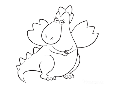Dragon Coloring Pages Girl Dragon Preschoolers