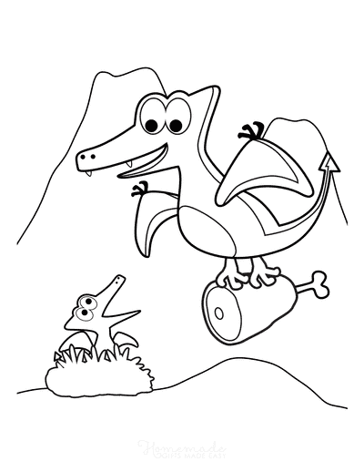 Dragon Coloring Pages Mom Dragon Baby Nest