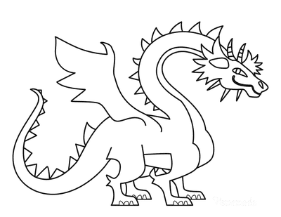 Dragon Coloring Pages Outline