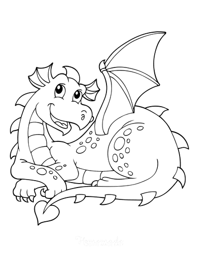 Dragon Coloring Pages Sitting