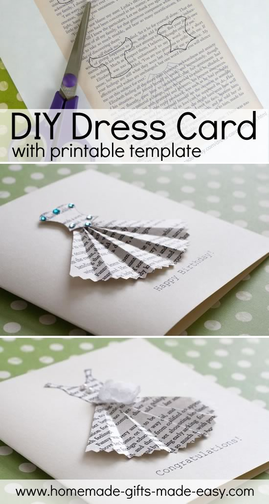 homemade dress card birthday card