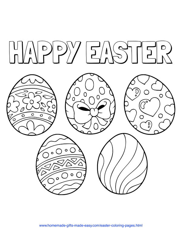 Free Printable Children's Easter Coloring Pages | Easter coloring ... | 776x600