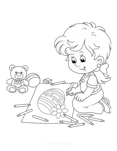 Easter Coloring Pages Child Coloring in Egg
