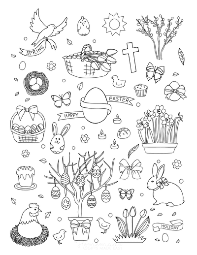 Easter Coloring Pages Collection of Images