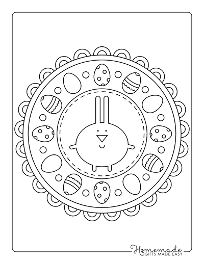 Easter Coloring Pages Cute Mandala for Kids
