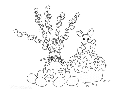 Easter Coloring Pages Easter Decorations