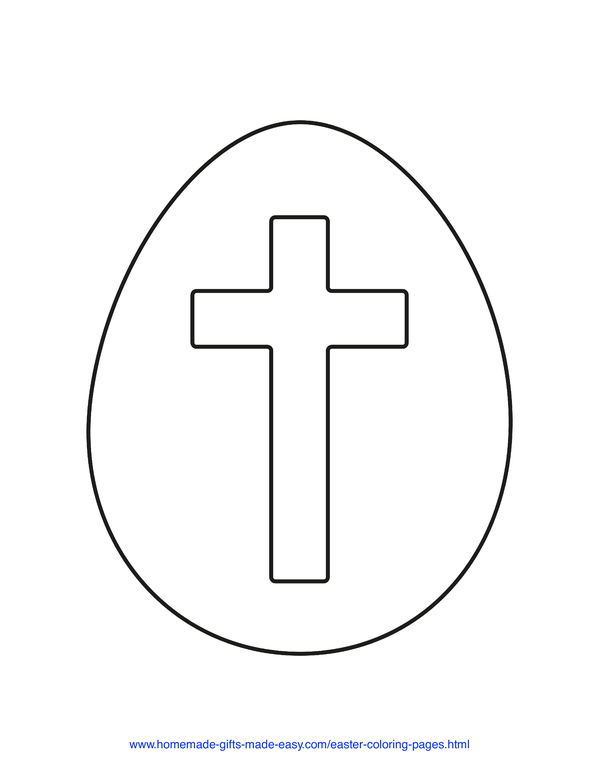 Easter Coloring Pages - egg cross