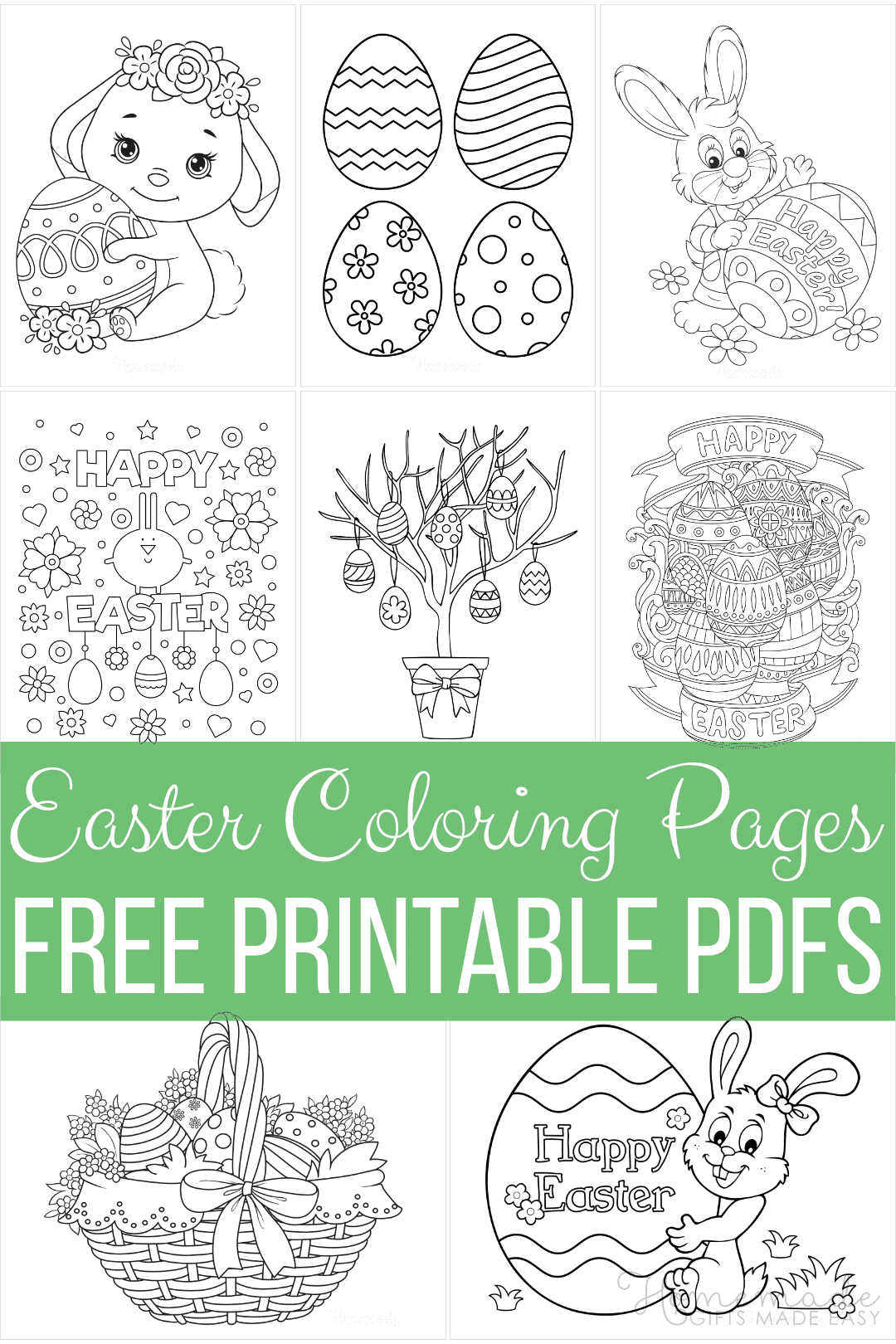 100 Easter Coloring Pages | 100 Free Printable PDFs