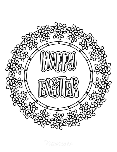 Easter Coloring Pages Spring Flowers Detailed