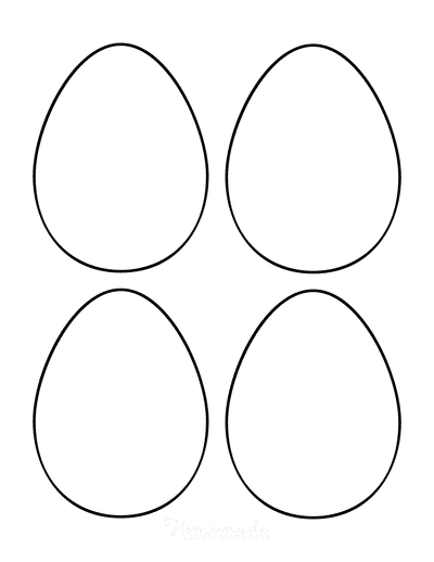 Easter Egg Coloring Pages Blank Medium 4