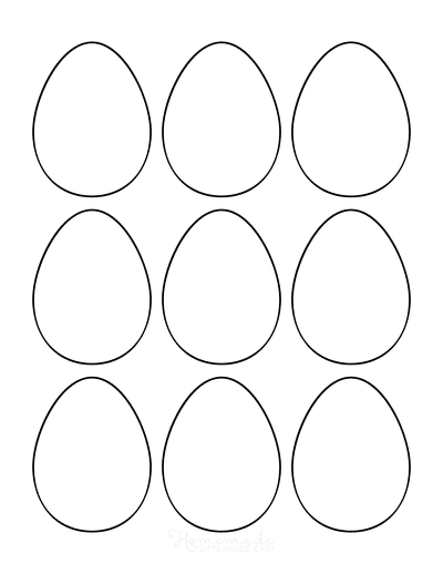Easter Egg Coloring Pages Blank Small 9