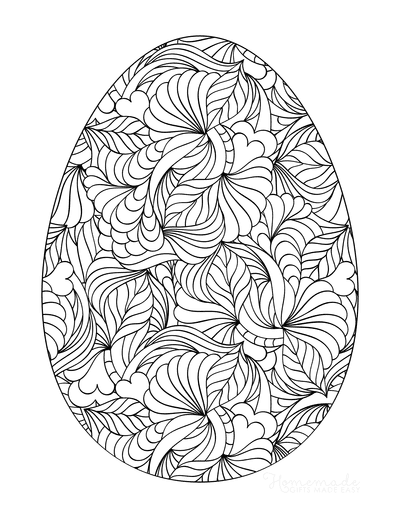 Easter Egg Coloring Pages Detailed Pattern for Adults