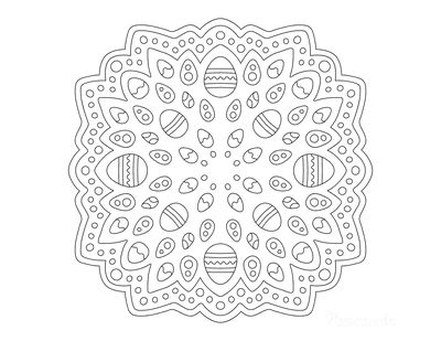 Easter Egg Coloring Pages Mandala Mini Eggs