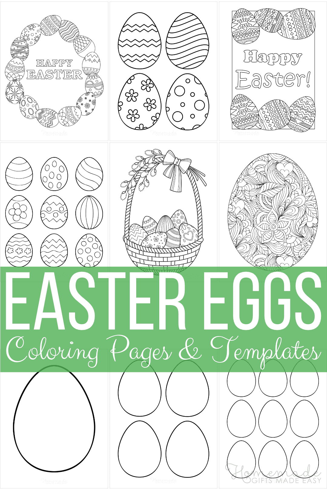 66 free printable Easter egg coloring pages and templates