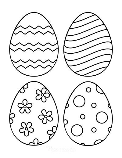 Easter Egg Coloring Pages Patterned 1 Medium 4