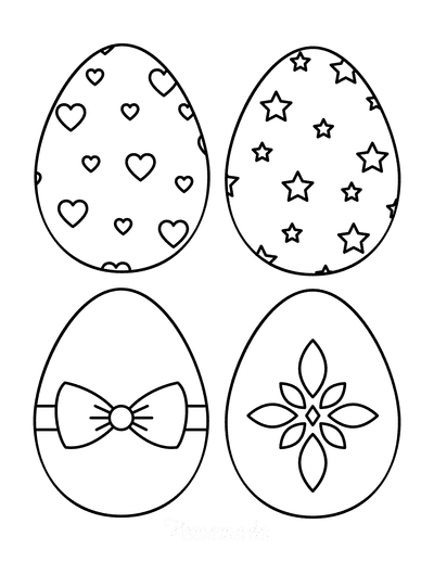 Easter Egg Coloring Pages Patterned 2 Medium 4