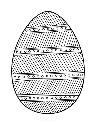 Easter Egg Coloring Patterned Egg 2