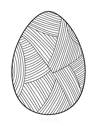 Easter Egg Coloring Patterned Egg 3