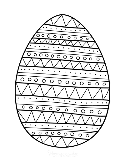 Easter Egg Coloring Patterned Egg 4