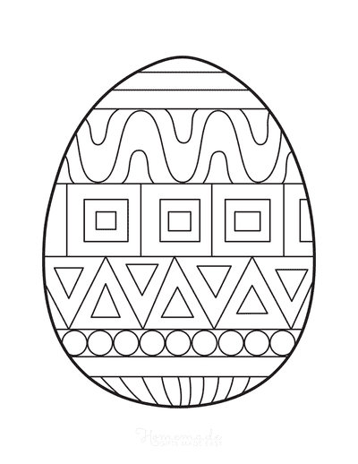 Easter Egg Coloring Patterned Egg 6