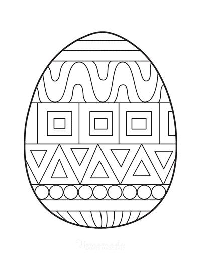 Easter Egg Coloring Patterned Egg 6