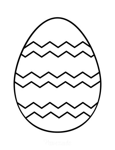 Easter Egg Coloring Simple Pattern 1