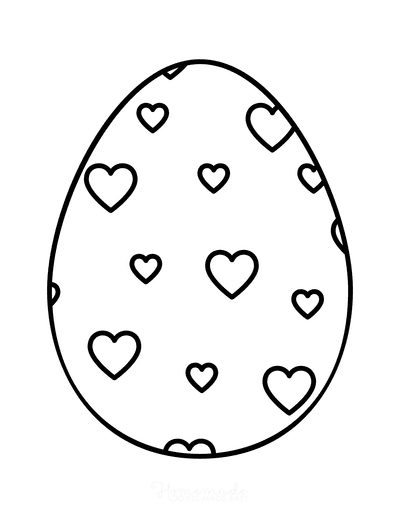 Easter Egg Coloring Simple Pattern 10