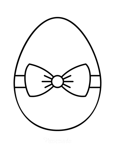 Easter Egg Coloring Simple Pattern 11
