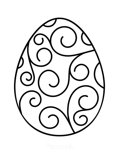 Easter Egg Coloring Simple Pattern 12