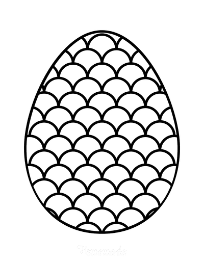 Easter Egg Coloring Simple Pattern 13