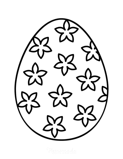 Easter Egg Coloring Simple Pattern 16